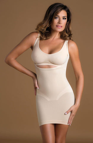 Shaping Open Bust Full Slip Skin Shapewear | AYNAYA Women's Lingerie