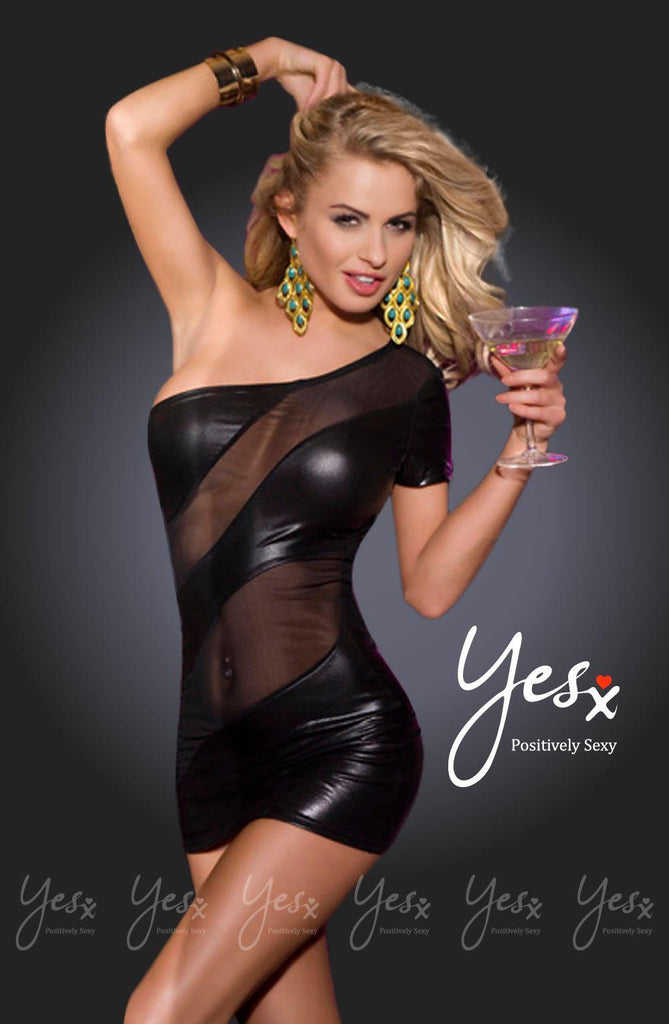 Yesx Dress Black Clubwear Dress | AYNAYA Women's Lingerie