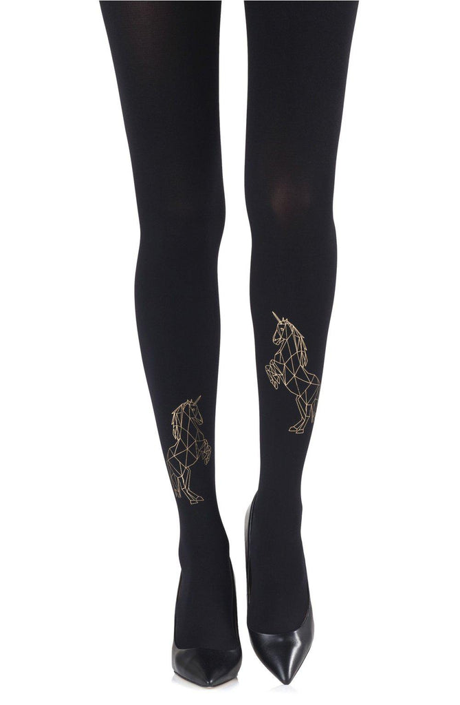 "Zohara ""agic Dance"" Gold Print Tights Women Tights 