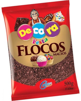 Flocos Sabor Chocolate Macio - Decora - Mix Doces e Festas