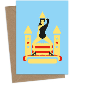 Beyonce Castle : Greeting Card