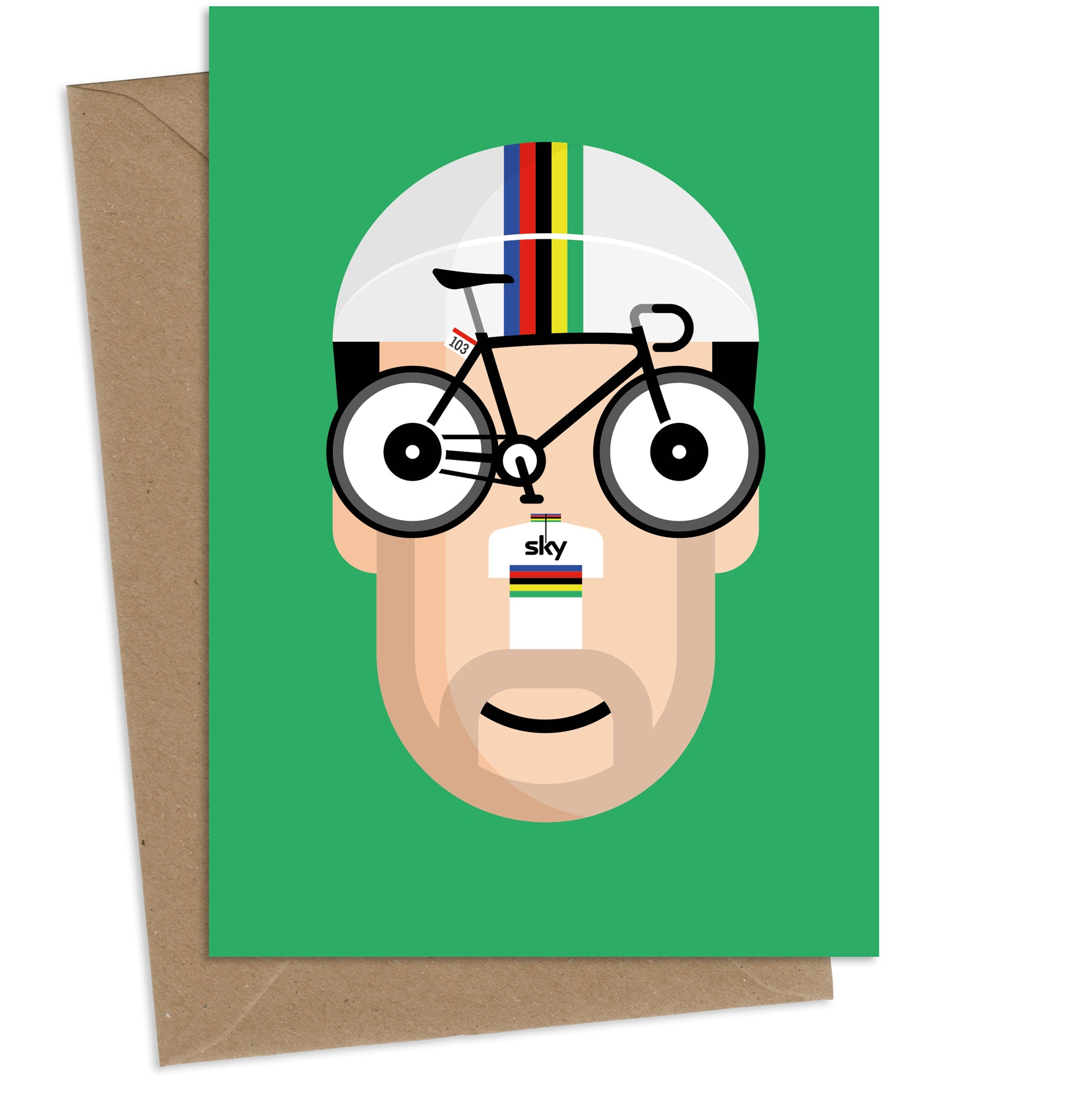 'Cav' AKA Mark Cavendish : Greeting Card