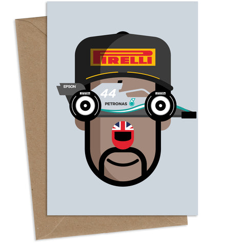 Lewis Hamilton : Greeting Card