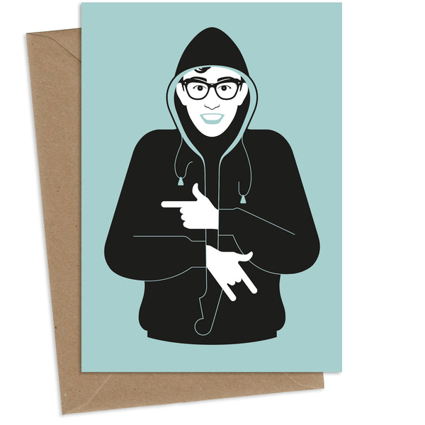Hoodie Holly : Greeting Card