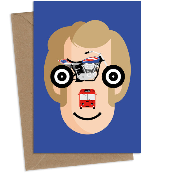 Evil Knievel : Greeting Card