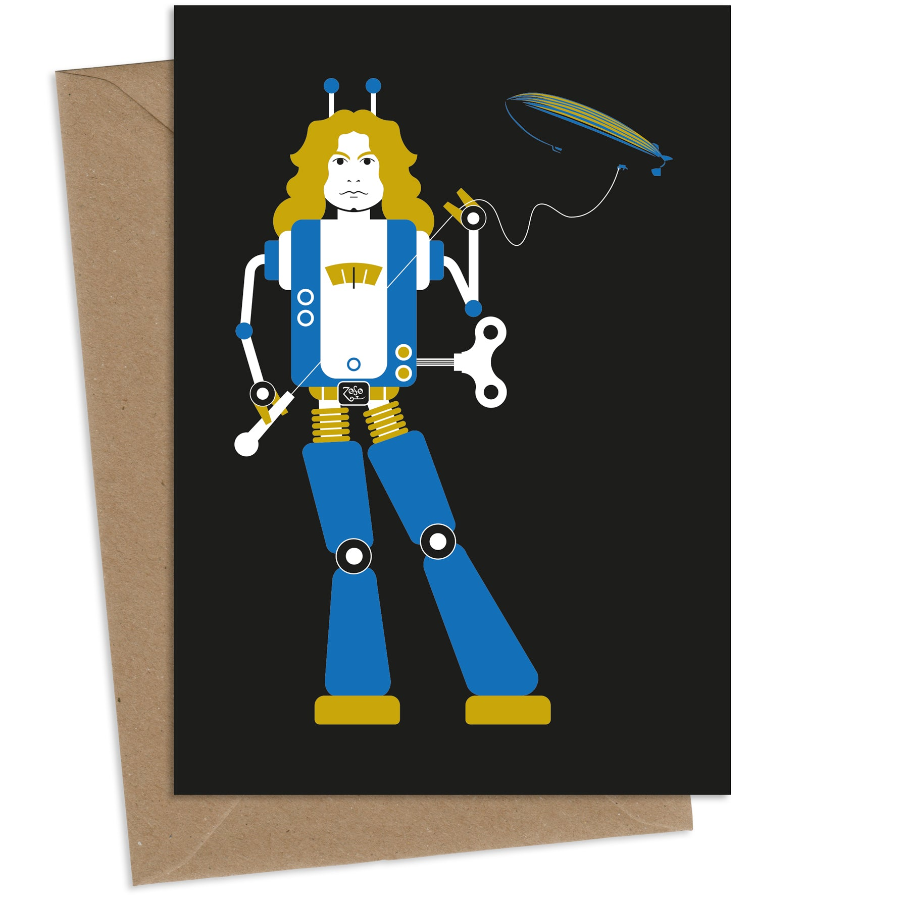Robot Plant : Greeting Card