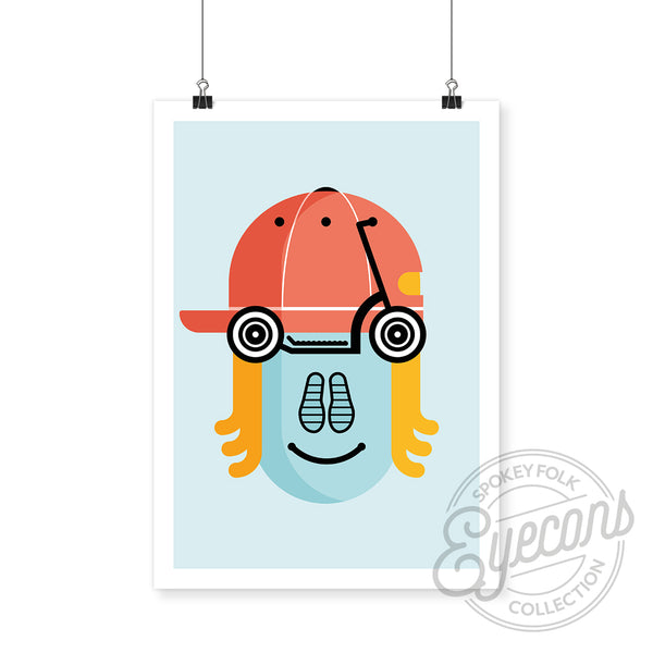 Scotty Scooter : Eyecons Art Print