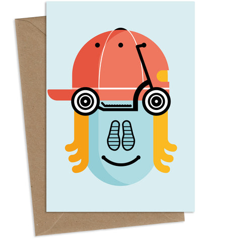 Scotty Scooter : Greeting Card