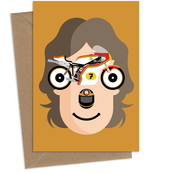 Barry Sheene : Greeting Card
