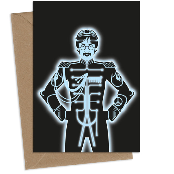 Tron Lennon : Greeting Card