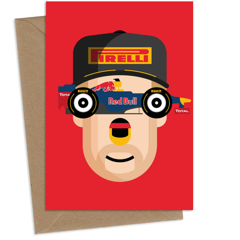Sebastian Vettel : Greeting Card