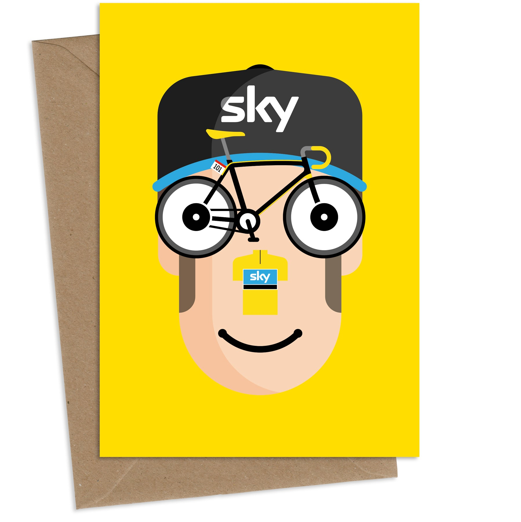 'Wiggo' AKA Sir Bradley Wiggins : Greeting Card
