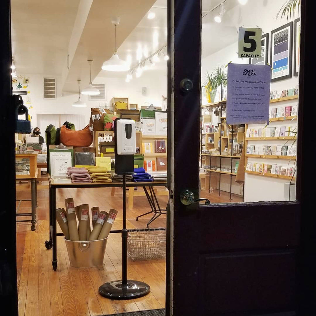Covid prevention practices in place at the Old City shop this past November 2020