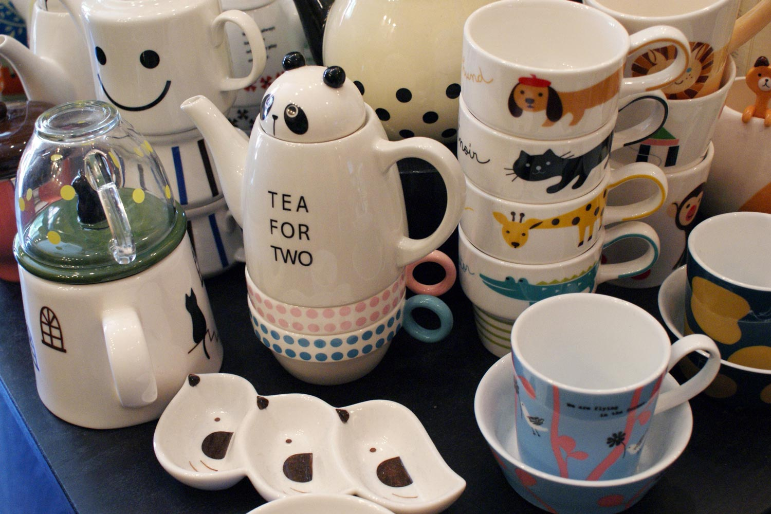 Our whimsical ceramics were hot sellers. When they became more commercially available, we felt it was time to move on.
