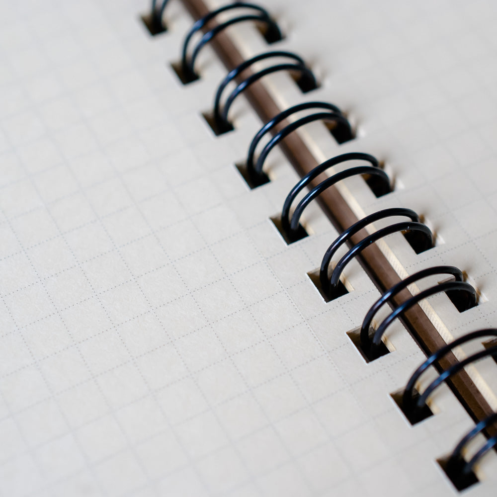 close-up of paper quality and perforation of paper in Delfonics Rollbahn Notebook