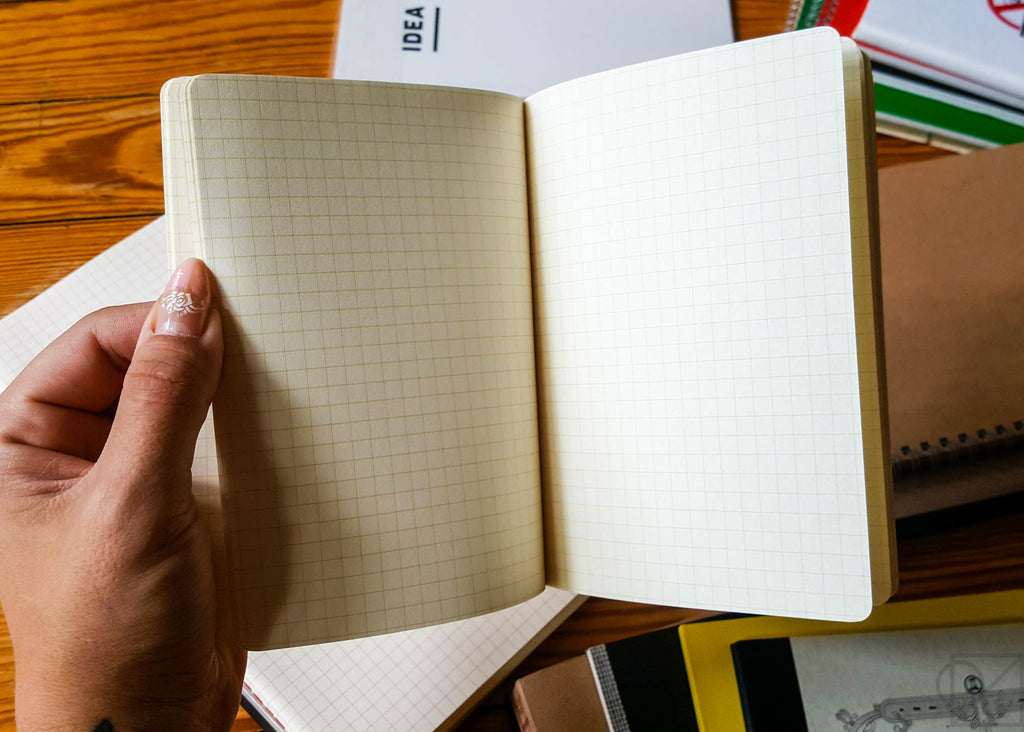stitch bound notebook opens easily without cracking
