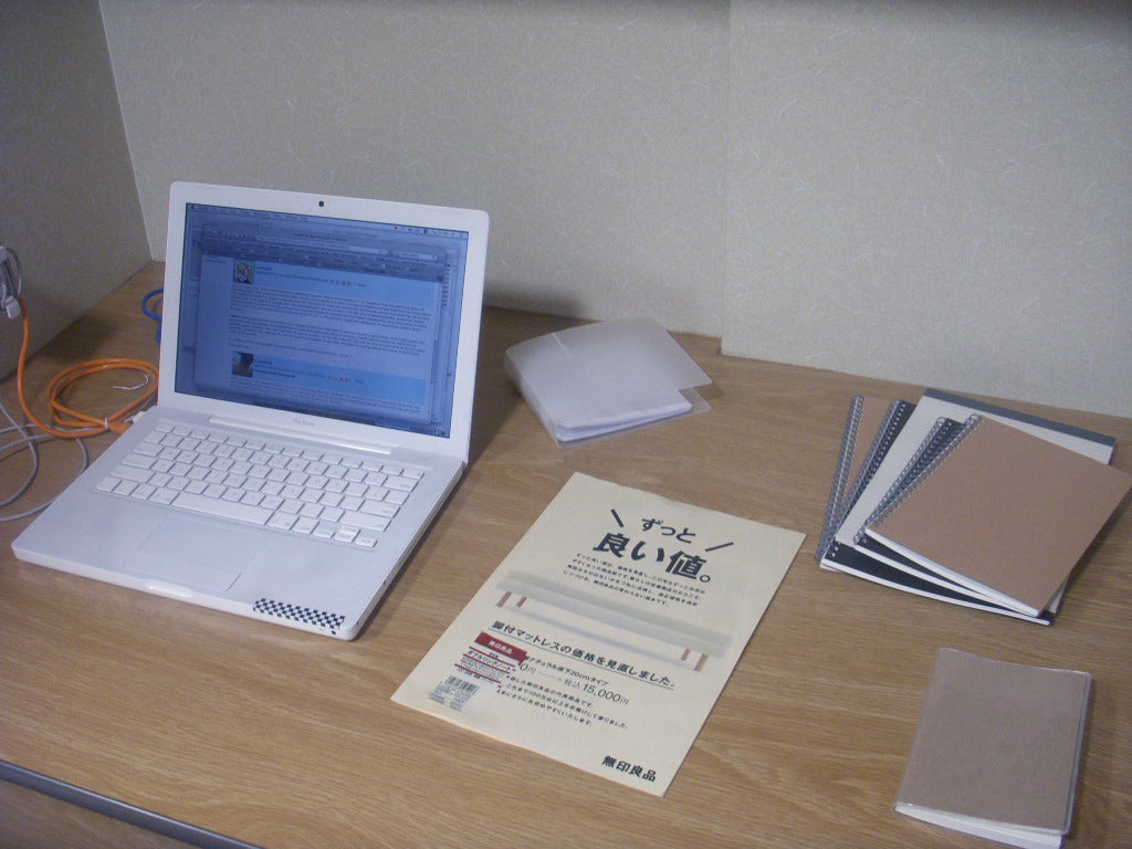 Monk's desk during their 2008 semester at Kansai Gaidai