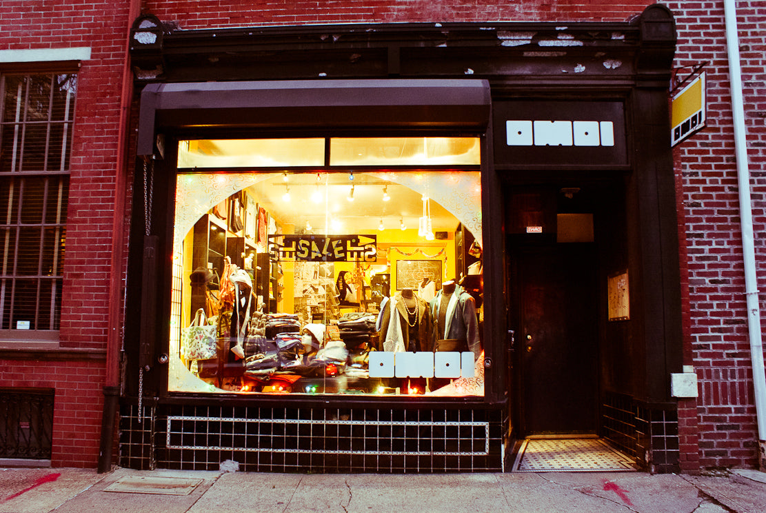 A 2012 January's sale window, back when we sold raw denim.