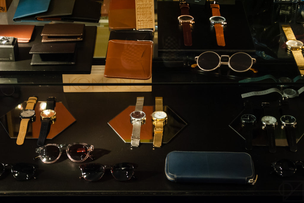 Craft sunglasses, elegant timepieces, and vegetable tanned leather wallets
