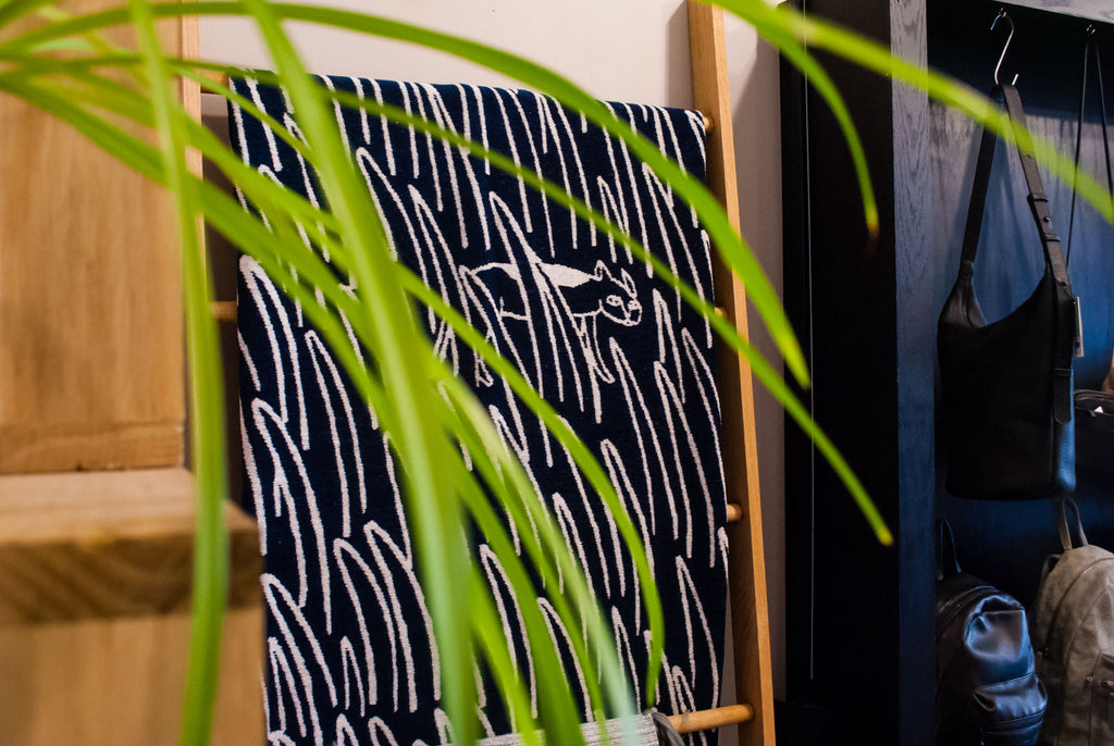 Fun Swedish textiles play well with spider plants
