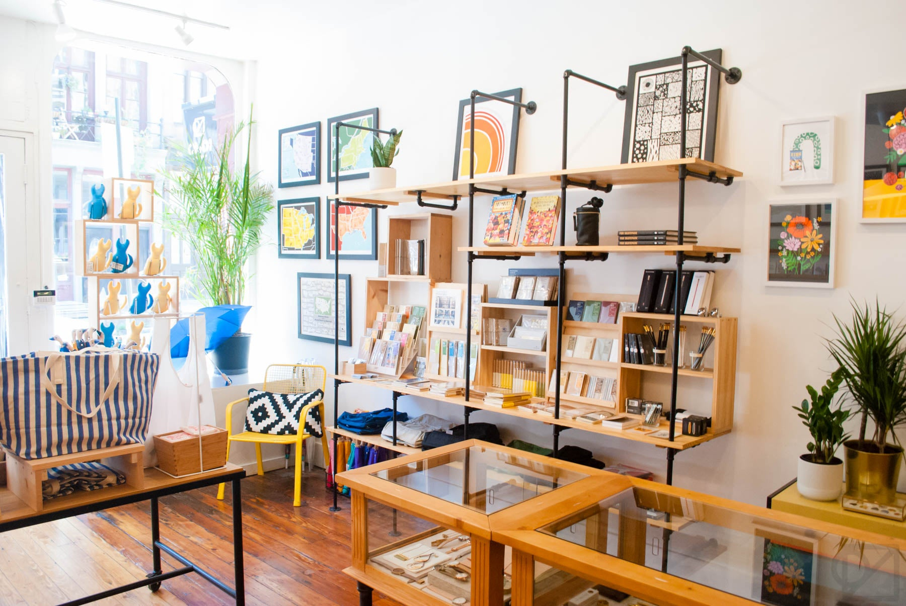 Our Brainstorm Prints and TRAVELER'S Company goods on prominent display right when you walk in.