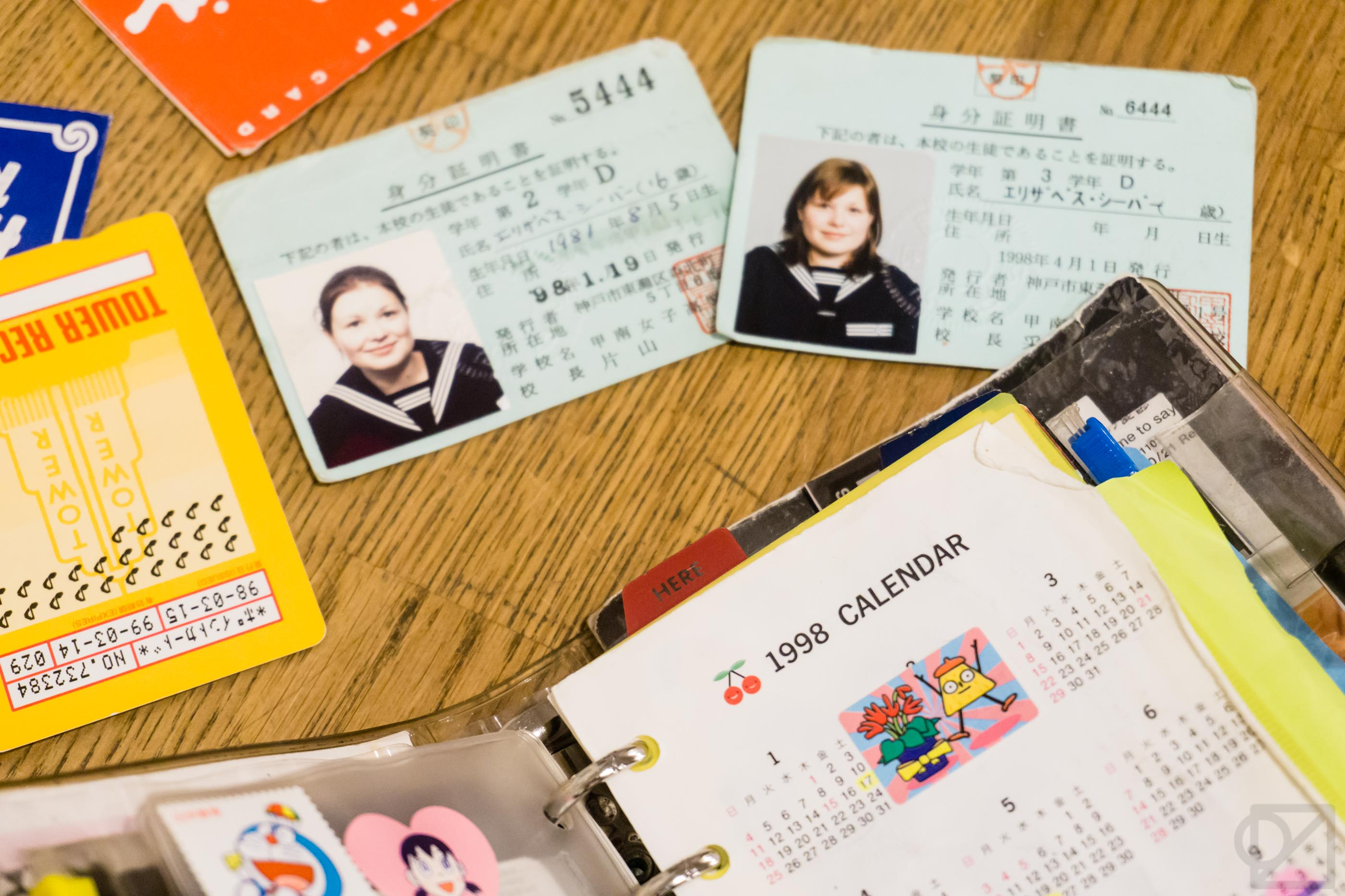 Liz's planner from her first study abroad trip in Kobe, Japan