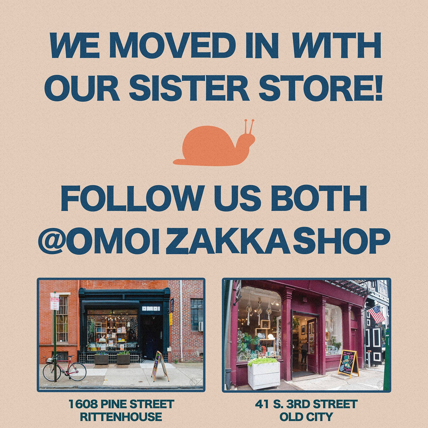 We had been running two separate Instagram accounts for both stores, which became too much work!