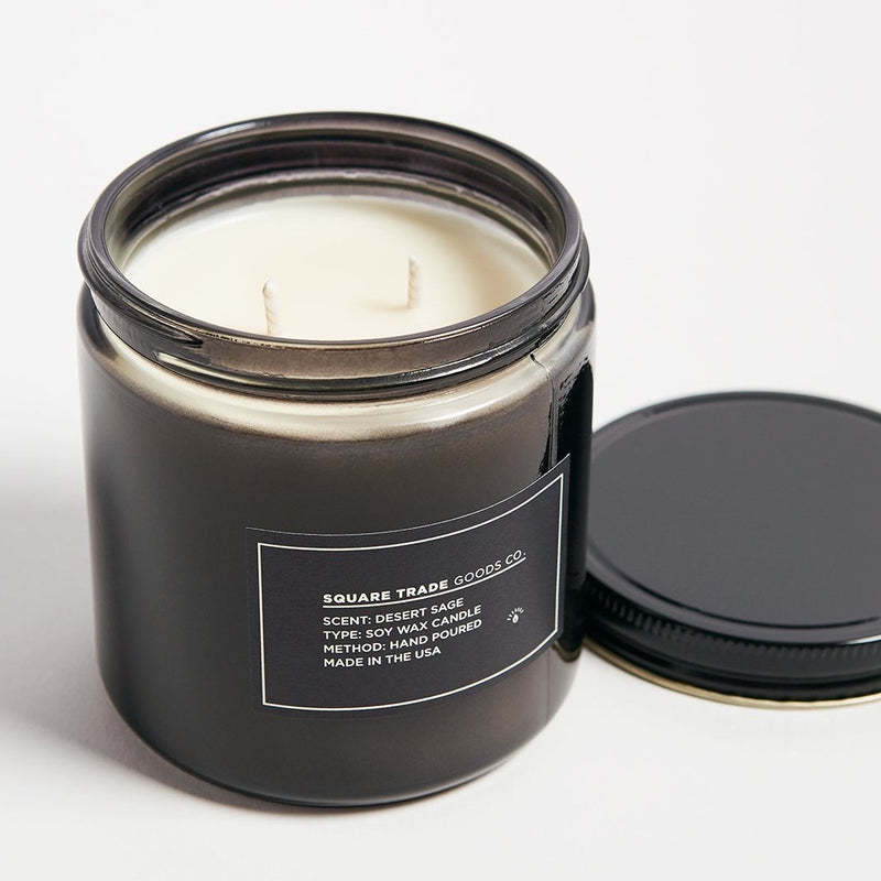 Square Trade Goods Co. Desert Sage  Double Wick Candle