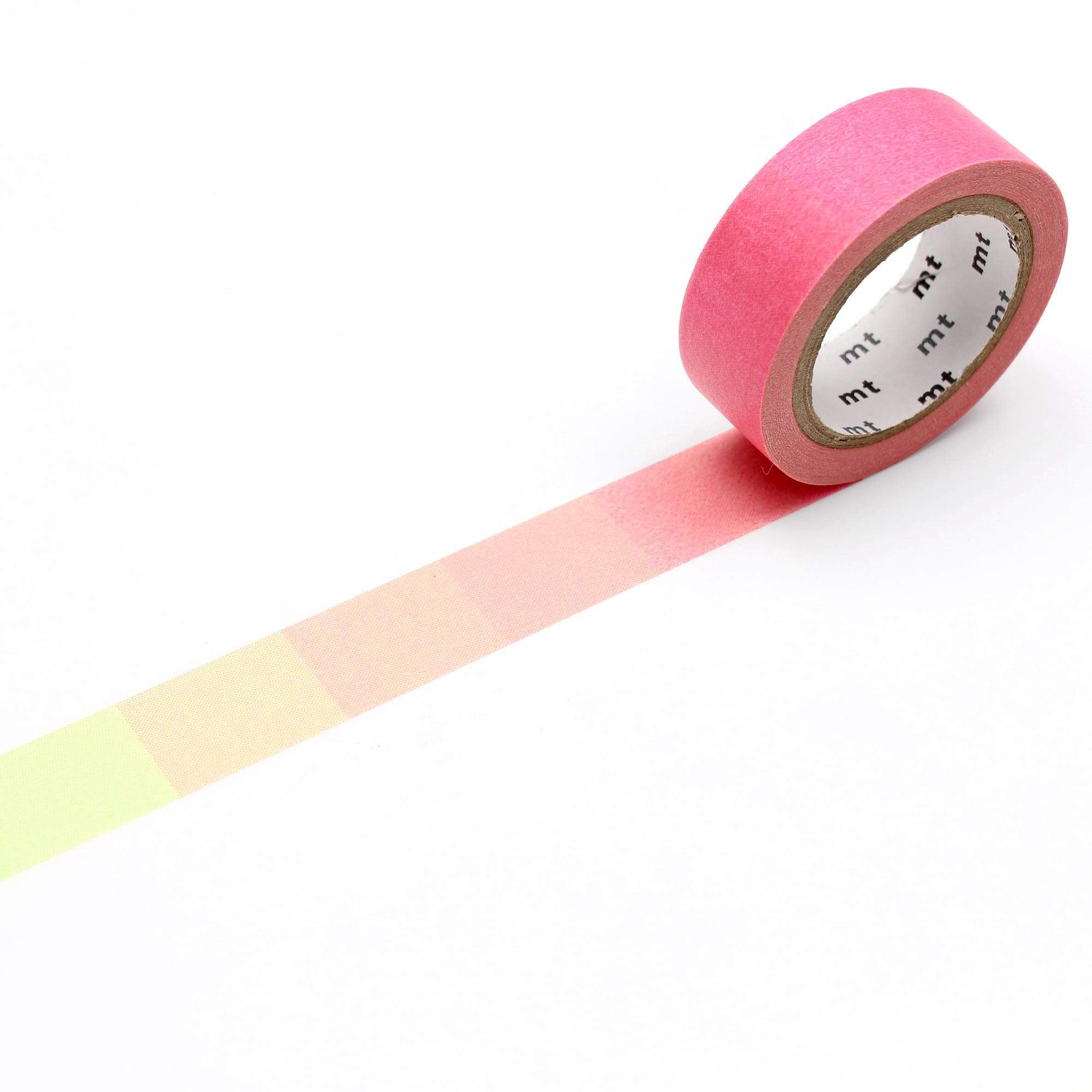 mt Washi Tape Fluorescent Pink x Green