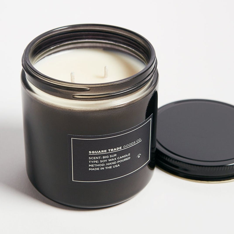 Square Trade Goods Co.  Big Sur Double Wick Candle