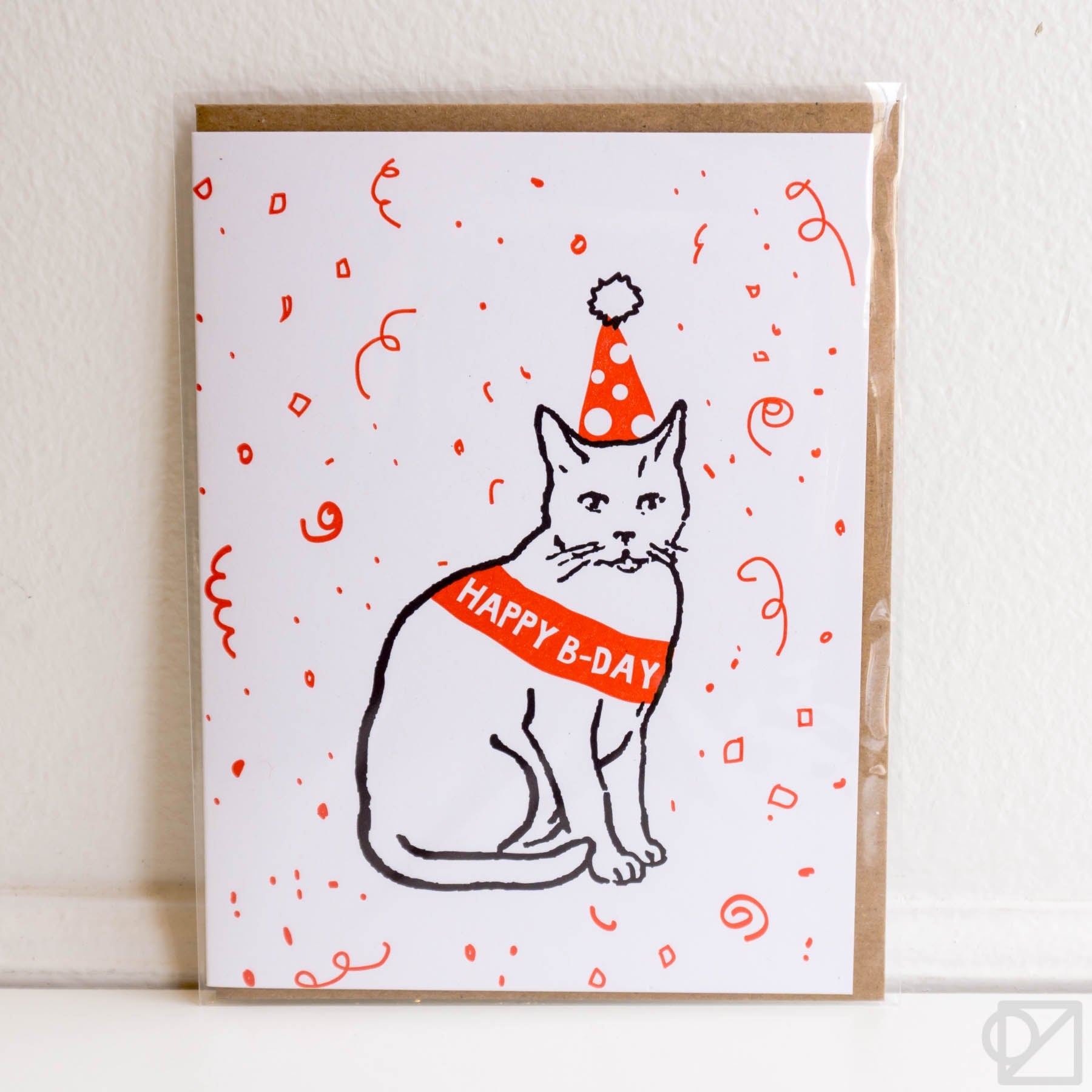 Confetti Cat Birthday Card
