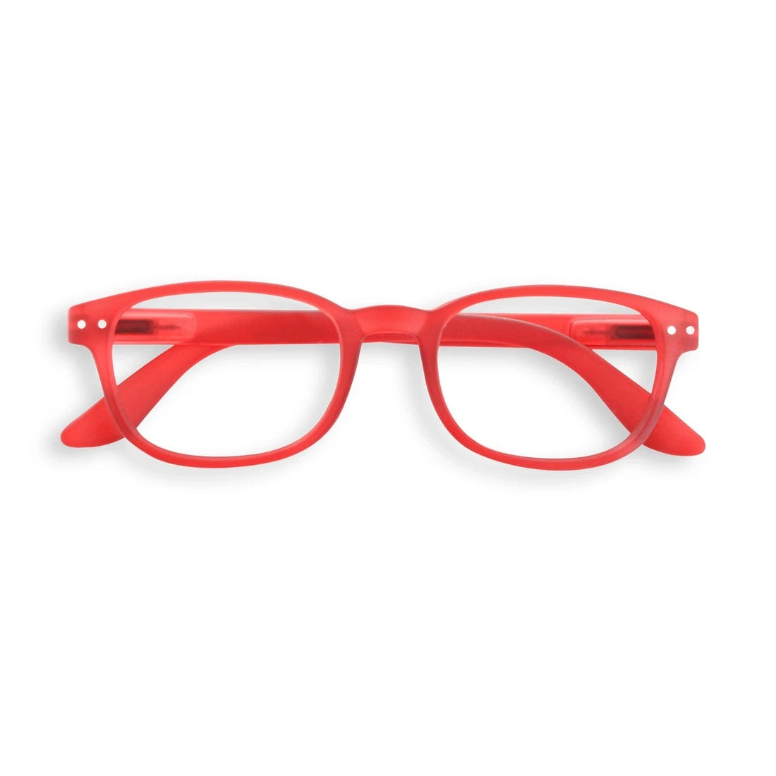 IZIPIZI #B Rectangular Readers in Red Crystal
