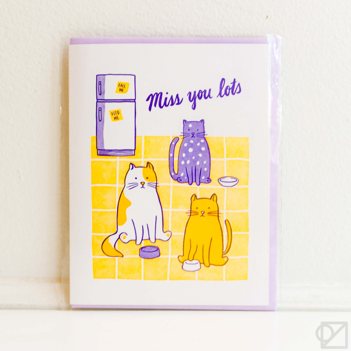 Miss You Cats Greeting Card