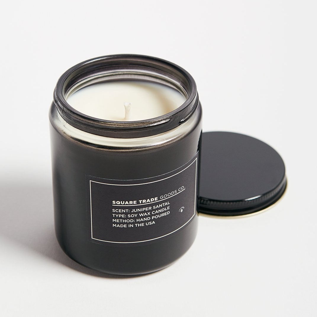 Square Trade Goods Co. Juniper Santal Candle