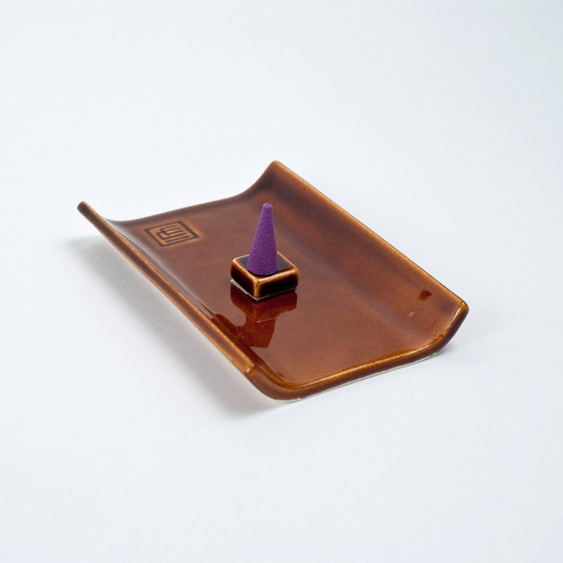 Yukari Plate Incense Burner Brown
