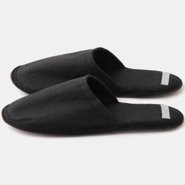 Fog Linen Work Slippers Graphite