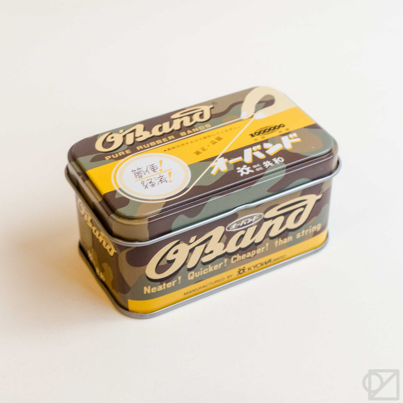 O'BAND Camo Natural Rubber Bands Tin