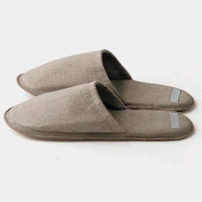 Fog Linen Work Slippers Natural