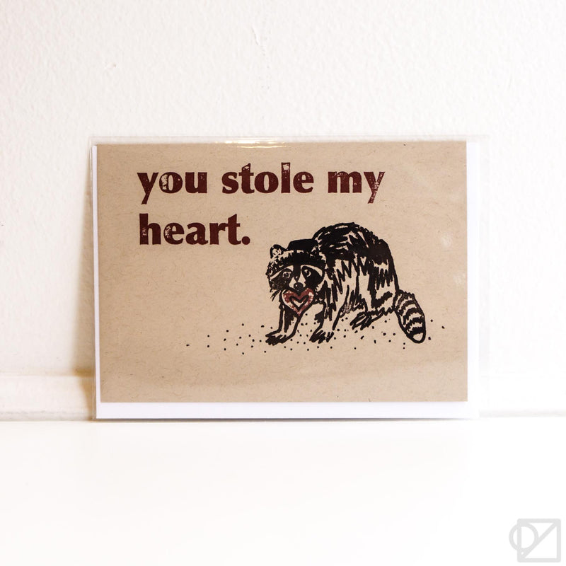Thieving Heart Raccoon Card
