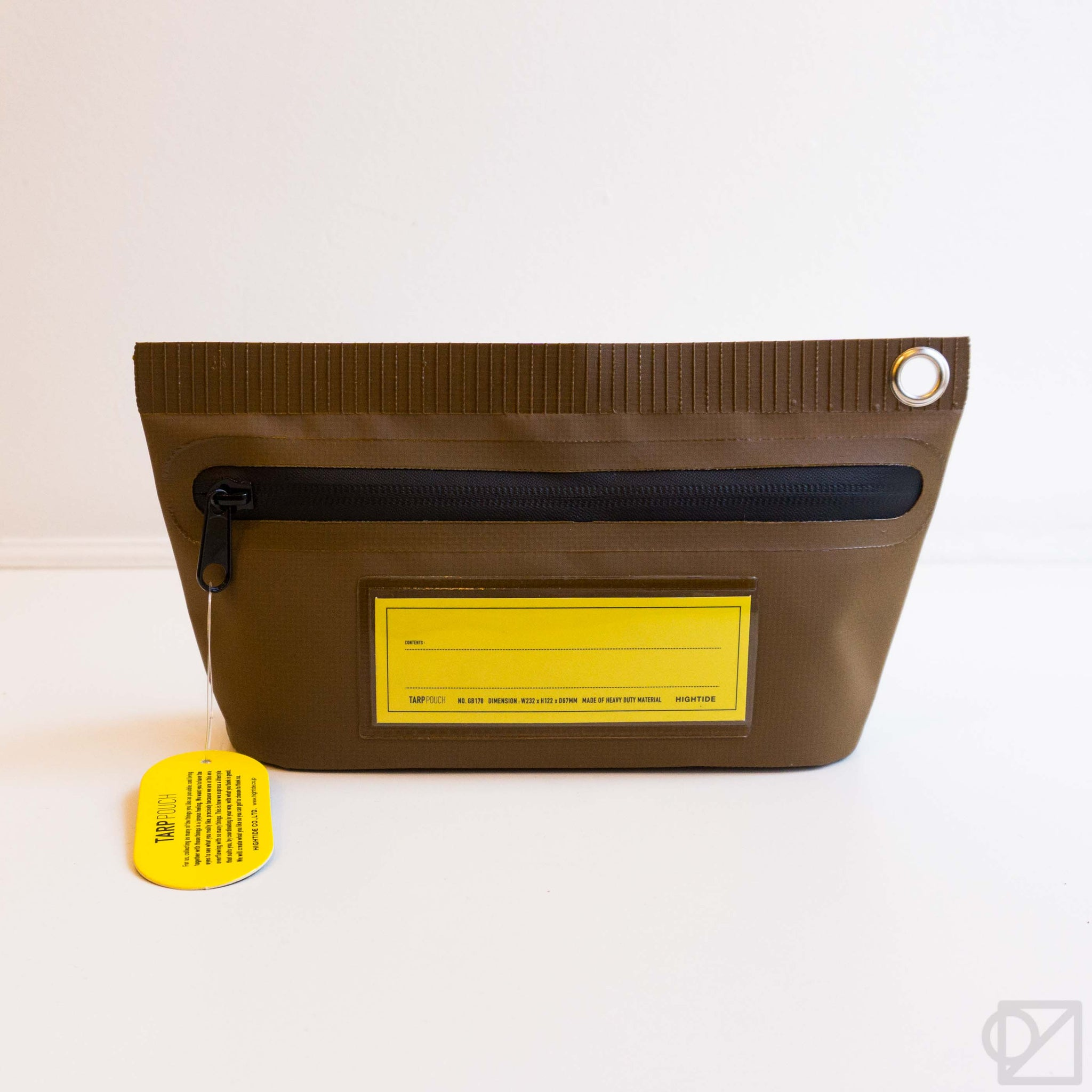 HIGHTIDE Small Tarp Pouch in Brown