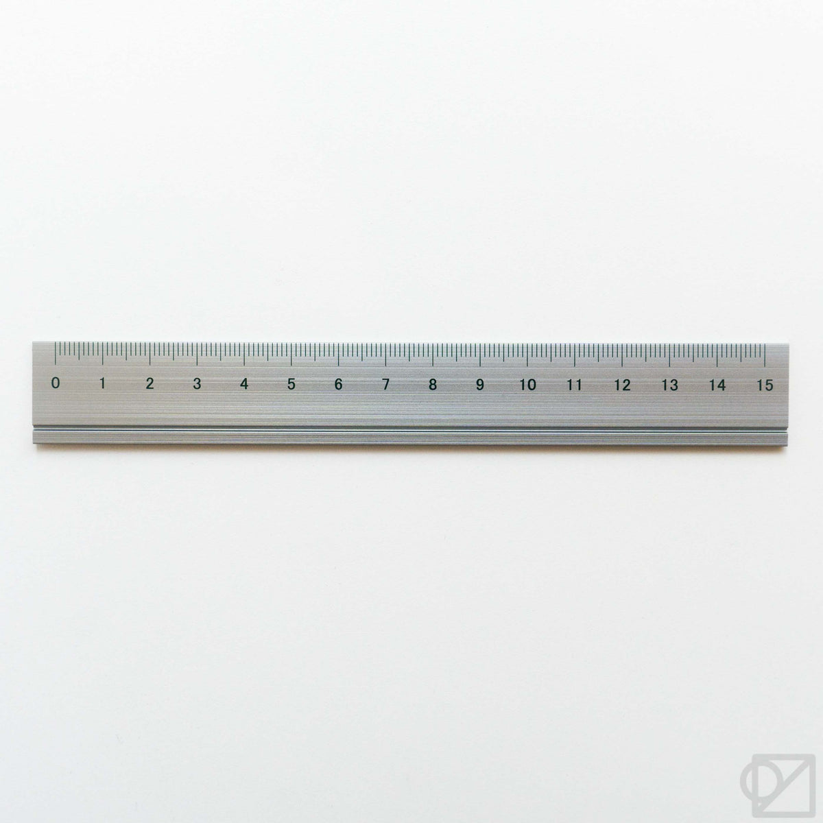 SLIP-ON Aluminum 15cm Ruler Gunmetal