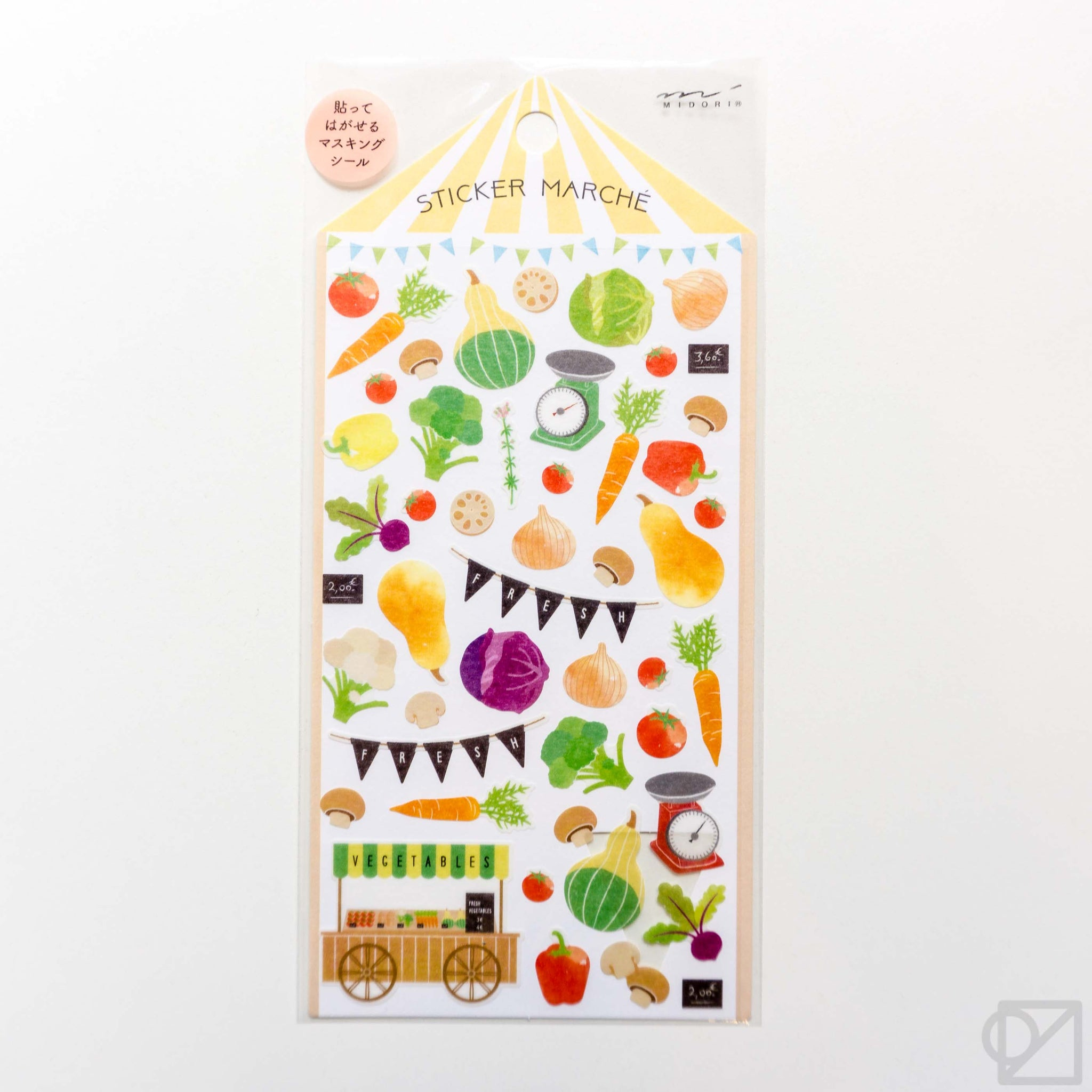 Midori Marché Washi Stickers Vegetable