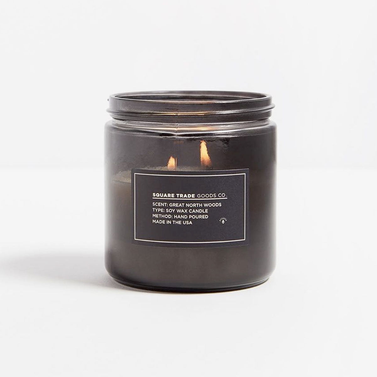 Square Trade Goods Co. Great North Woods Double Wick Candle