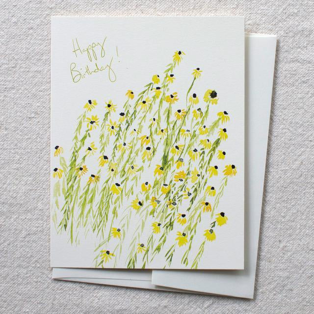 Rudbeckia Birthday Card