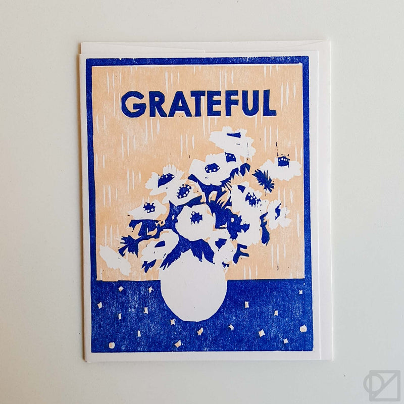 Grateful for Anemonies Greeting Card