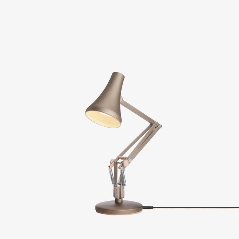 Anglepoise 90 Mini Mini Desk Lamp | Warm Silver & Blush