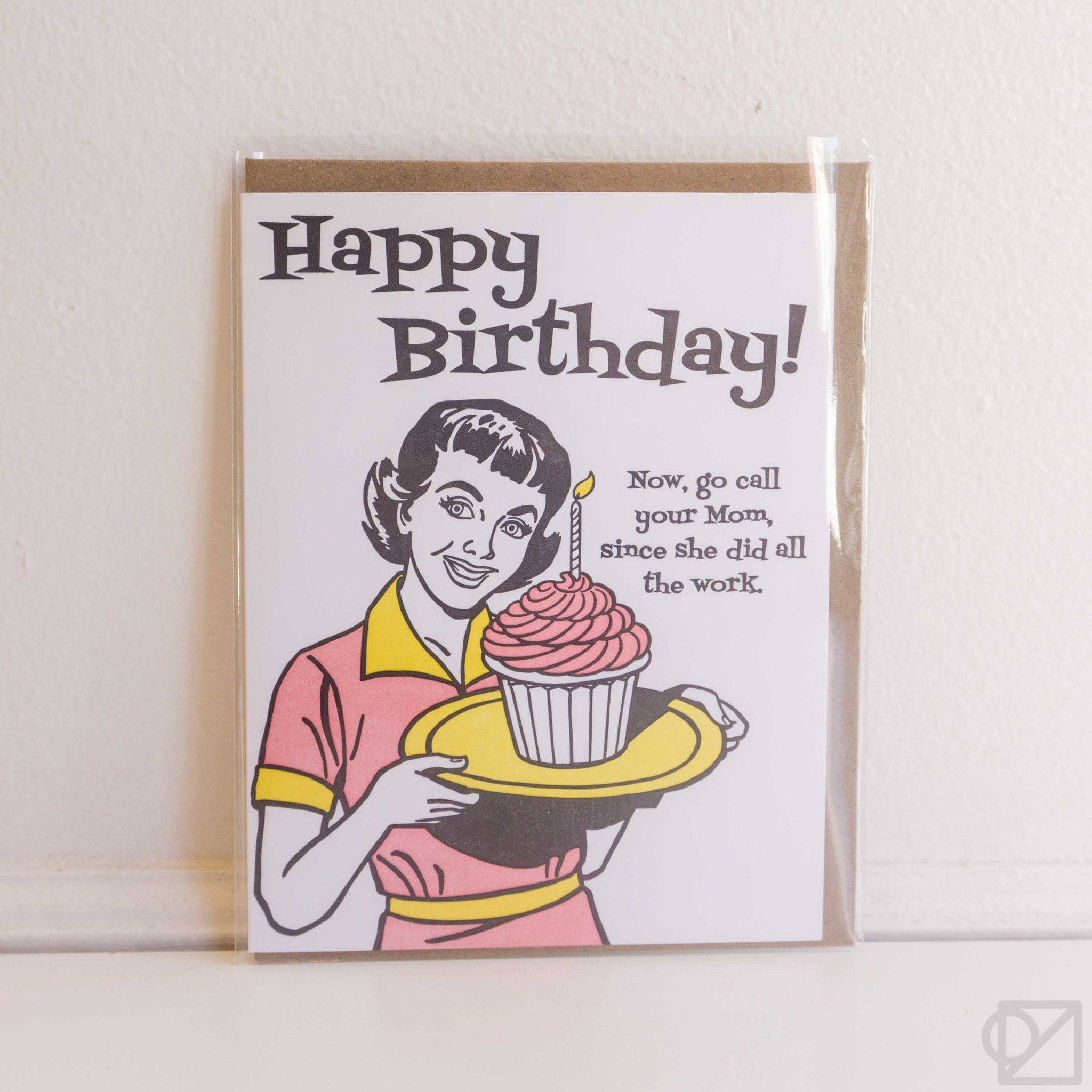 Call Your Mom Birthday Card