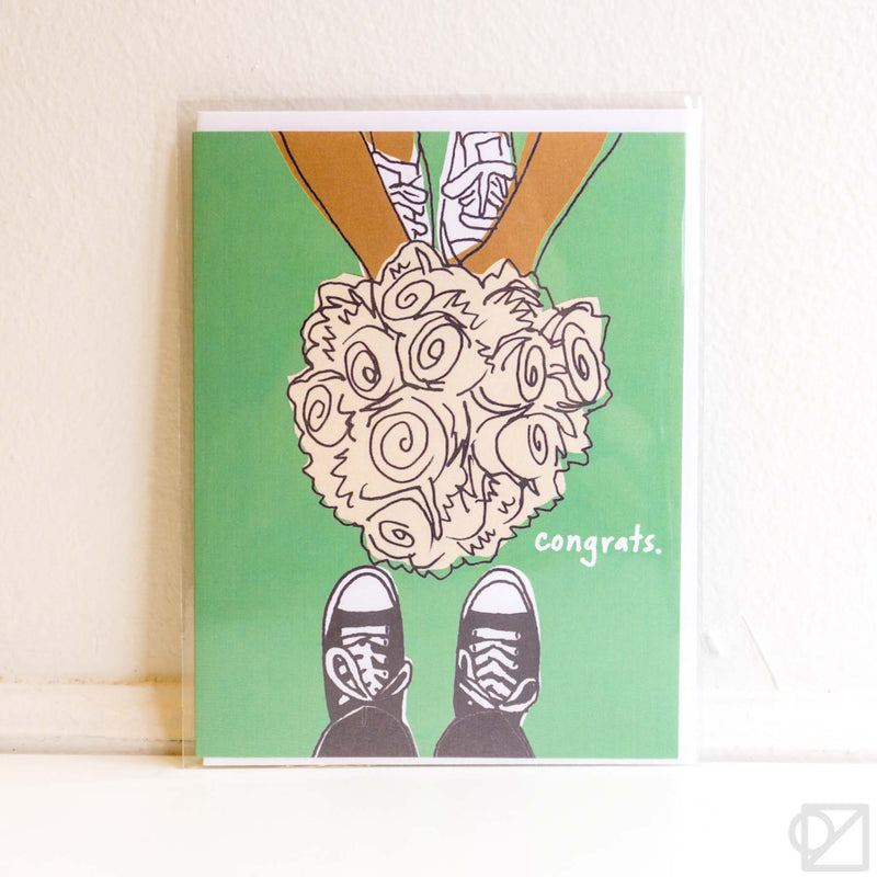 Congrats Sneaker Bouquet Card