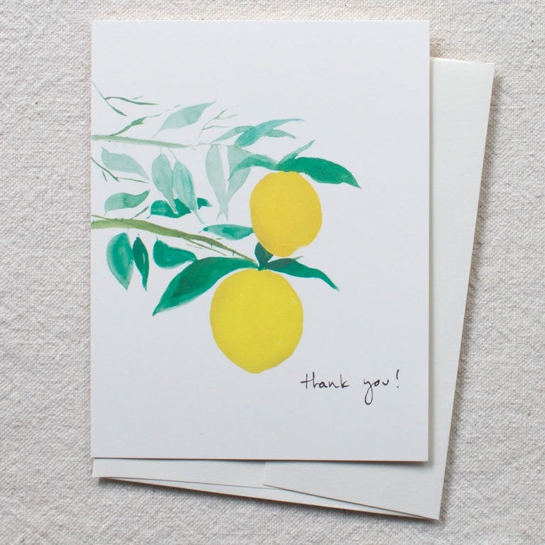 Citrus Branches Thank You Card