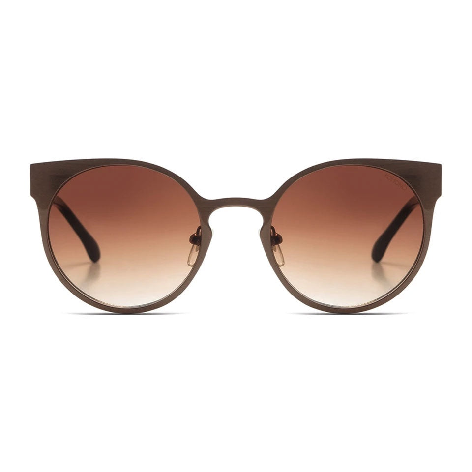 KOMONO Lulu Metal Sunglasses in Pale Copper